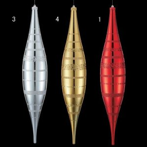 クリスマス装飾 ツリー 90cmシャイニーストライプラージフィニアル[DIFN6842] ryoccadou