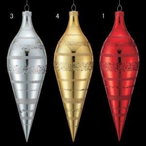 クリスマス装飾 ツリー 60cmシャイニーストライプオーバル 飾り[DIFN6843] ryoccadou