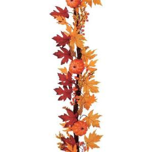 ハロウィン装飾 180cmオレンジリーフパンプキンツイグガーランド[DIGA61018]|ryoccadou