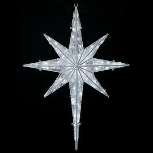 LEDホワイトグロー立体スター(常点灯/パワーコード、コネクター付き) 耐水120cm200球広角型 ryoccadou 01