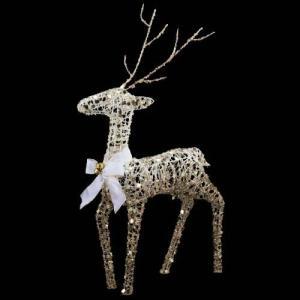 クリスマス装飾 75cmシ ャンペーンゴールドホワイトレインディア[DIRE6954] ryoccadou
