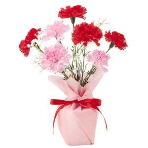 母の日 カーネーションポット(2) MOTHER'S DAY 造花 人工観葉植物[FLGD1682] ryoccadou