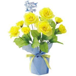父の日 ローズポット(4) FATHER'S DAY 飾り 造花 人工観葉植物[FLGD3688]|ryoccadou