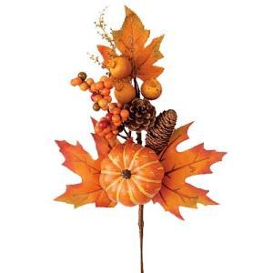 ハロウィン装飾 HALLOWEEN パンプキンベリーコーンリーフスプレイ[LESP5860]|ryoccadou