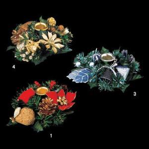 クリスマス装飾 ツリー 16cmキャンドルホルダー 飾り[PGCA6001] ryoccadou