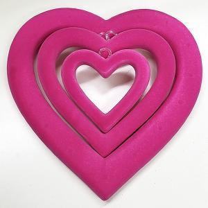 フロックリングハート 装飾デコレーション 【SALE】3点セット 現品限り[sale-heartring]|ryoccadou