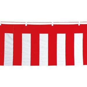 イベント装飾 のぼり ペナント 90x540cm 紅白幕(紅白ひも付き)[SPFL7060]|ryoccadou