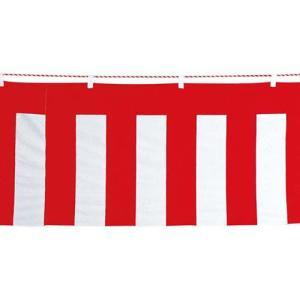 イベント装飾 のぼり ペナント 90x720cm 綿紅白幕(紅白ひも付き)[SPFL7062]|ryoccadou