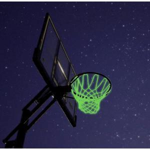 バスケット ゴール ネット 夜光 リング 太陽光を吸収して光ります