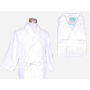 中国製 定番バスローブ 白 マイヤー織り 業務用|ryokan-yukata