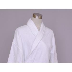 中国製 定番バスローブ 白 ヘチマ衿 業務用|ryokan-yukata