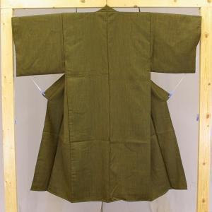日本製 二重織ウール丹前 業務用 男性用 No.13黄色縞 帯付き|ryokan-yukata|02