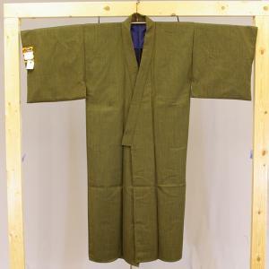 日本製 二重織ウール丹前 業務用 男性用 No.13黄色縞 帯付き|ryokan-yukata|03
