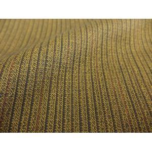 日本製 二重織ウール丹前 業務用 男性用 No.13黄色縞 帯付き|ryokan-yukata|04