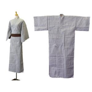 旅館・ホテル浴衣 日本製 ダイワたてかん柄 白地に紺|ryokan-yukata|03