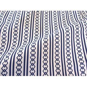 旅館・ホテル浴衣 日本製 ダイワたてかん柄 白地に紺|ryokan-yukata|04