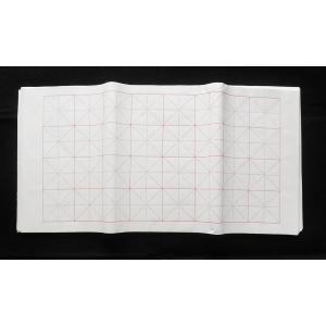 米字格 マス目 罫入り画仙紙 32マス 34-70cm 100枚 ryokufuu