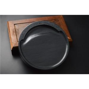 歙州硯 水波紋硯 7吋|ryokufuu