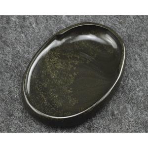 歙州硯 金花 魚子紋硯 6吋|ryokufuu