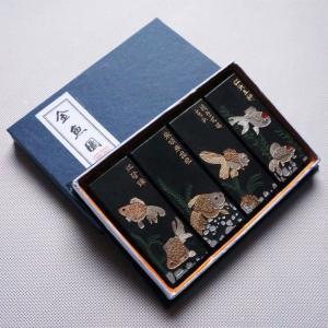 中国墨 2丁 4個入り 金魚園 老胡開文製墨|ryokufuu