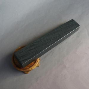書道文鎮 水波紋石 一本 750g