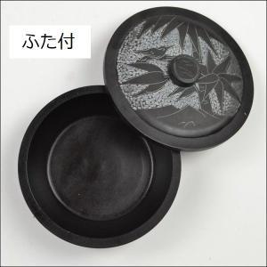 墨池 筆洗い ふた付き 4吋 硯石 すずり|ryokufuu