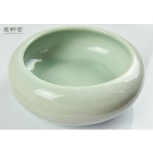 青磁 筆洗い 墨池 13cm|ryokufuu