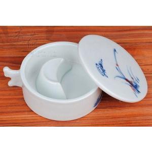 陶器 筆洗い 筆置き付 墨池 |ryokufuu