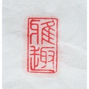 関防印 遊印 引首印 1.0cm×2.0cm 2文字まで 篆刻印 雅号印|ryokufuu