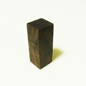 篆刻用 印材 黒檀木 木製印 6-2-2cm|ryokufuu