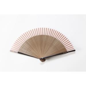 短地扇子 桜ピンク 専用扇子入れ付き|ryokushusen