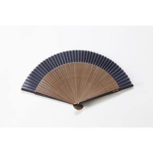 短地扇子 藍紺 専用扇子入れ付き|ryokushusen