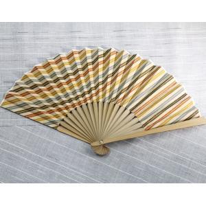 遠州綿紬扇子 黄葉 専用扇子袋付き ryokushusen