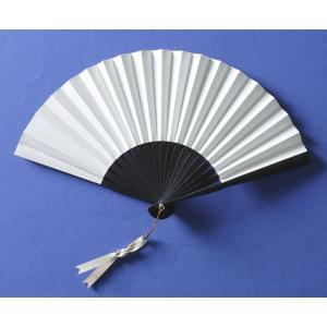 本革扇子 ホワイト(レザーファン 牛本革使用 高級扇子)|ryokushusen