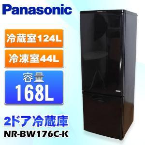 中古 Panasonic パナソニック 168L 2ドア冷蔵庫 NR-BW176C-K ブラック|ryoshin-online-shop