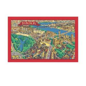 Ulster Weavers (アルスター・ウィーバーズ) リネンティータオル「ロンドンマップ」 英国輸入雑貨 ティー用品 麻|ryoshindoshop