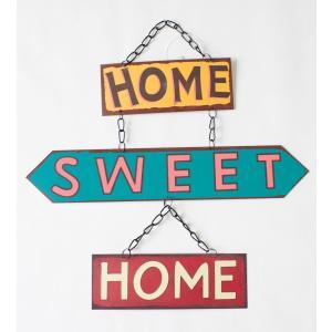 英国製 レトロ調 メタルサインプレート 3連 HOME SWEET HOME|ryoshindoshop