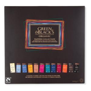 Green & Black's グリーン&ブラックス 英国オーガニックチョコレート テイスティングコレクション ミニバー24枚+スモールバー1枚+説明書つき イギリス|ryoshindoshop