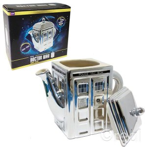 BBC公式 ドクターフー50周年ティーポット Doctor Who TARDIS Teapot Special 50th Anniversary Edition DR235 海外ドラマ グッズ|ryoshindoshop