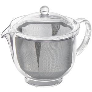 曙産業 トライタン樹脂製 クリアティーポットL ステンレスメッシュ 480ml TW-3722 日本製 茶こし付き|ryoshindoshop