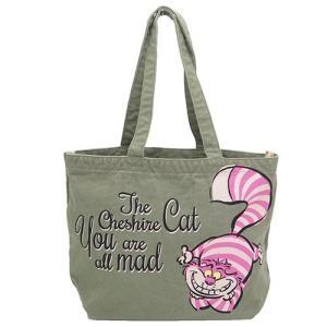 ふしぎの国のアリス オールドカラーバッグ チェシャ猫 コットン トートバッグ 手提げ APDS2398 不思議の国のアリス|ryoshindoshop