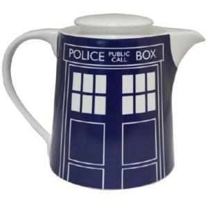 BBC公式 ドクターフー ターディス ティーポット Doctor Who Tardis Door Panel Blue Teapot DWHW12997 海外ドラマ グッズ|ryoshindoshop