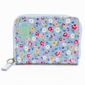 キャスキッドソン Cath Kidston コインケース トラベルジップパース Little Flower Buds 小花柄 ブルー 595193 イギリス 輸入雑貨|ryoshindoshop