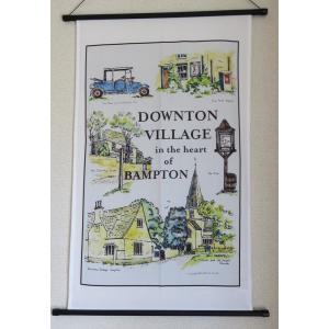 ダウントンアビー村 バンプトン コットンティータオル 英国製 アーチストサイン入り 海外ドラマ グッズ  Downton Village Bampton|ryoshindoshop