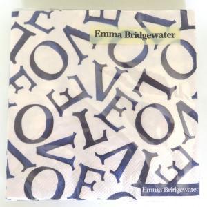 1枚ばら売り Emma Bridgewater (エマ・ブリッジウォーター)IHR(イア)ペーパーナプキン LOVE ラブ ランチナプキン 33x33 ビートルズ デコパージュ 単品|ryoshindoshop