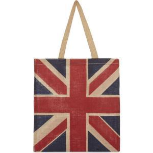 ユニオンジャック ジュートバッグ トートバッグ elgate 40x36cm Union Jack Jute Bag 英国旗 ロンドン 輸入雑貨|ryoshindoshop