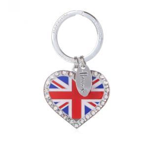 Harrods(ハロッズ) キーリング ユニオンジャックハート Union Jack Heart Keyring 英国王室御用達 イギリス 輸入雑貨|ryoshindoshop