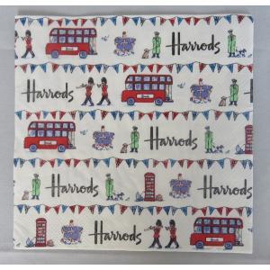1枚ばら売り Harrods (ハロッズ)ペーパーナプキン ストリートパーティー ロンドン柄 33x33 デコパージュ 単品 ryoshindoshop
