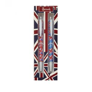 Harrods(ハロッズ)ペンセット ボールペン・シャーペンセット ユニオンジャック柄 Crowning Glory Pen & Pencil Set イギリス 英国ブランド 海外文房具|ryoshindoshop