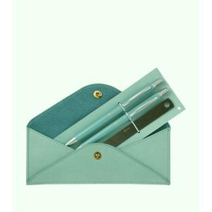 Harrods(ハロッズ)ペンセット ボールペン+シャーペン+定規 ペンケース入り Envelope Pen Pouch イギリス 英国ブランド 海外文房具|ryoshindoshop